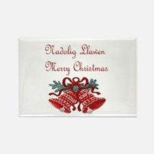 Welsh Christmas Rectangle Magnet (100 pack)
