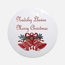 Welsh Christmas Ornament (Round)