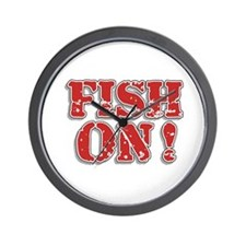 Fish On! Wall Clock