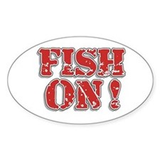 Fish On! Oval Decal