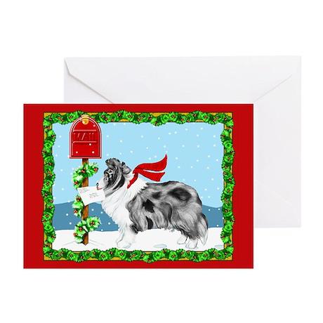 Bi Blue Sheltie Mail Greeting Cards (Pk of 10)