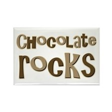 Chocolate Rocks Lover Rectangle Magnet