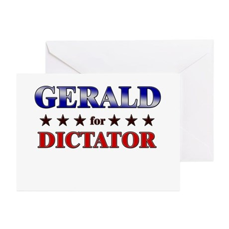 GERALD for dictator Greeting Cards (Pk of 20)