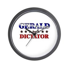 GERALD for dictator Wall Clock
