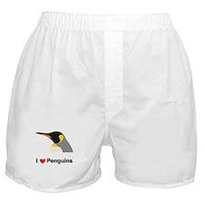 I Love Penguins Boxer Shorts