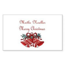 Turkish Christmas Rectangle Decal