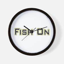 Fish On (2) Wall Clock