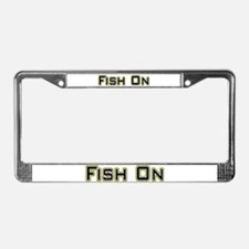 Fish On (2) License Plate Frame