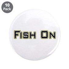 """Fish On (2) 3.5"""" Button (10 pack)"""