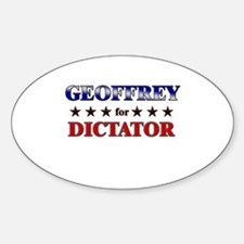 GEOFFREY for dictator Oval Decal