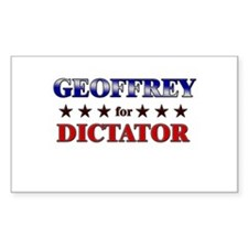 GEOFFREY for dictator Rectangle Decal