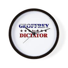 GEOFFREY for dictator Wall Clock