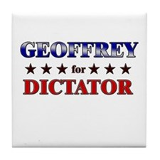 GEOFFREY for dictator Tile Coaster