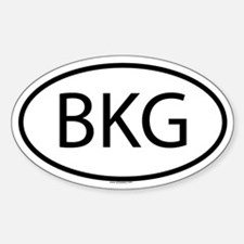 bkg - Oval Decal