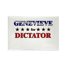 GENEVIEVE for dictator Rectangle Magnet