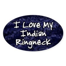 Funky Love Indian Ringneck Oval Decal