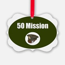50 Mission Cap Ornament
