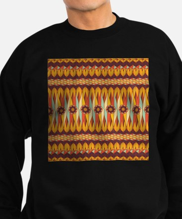 Colorful ethnic pattern Sweatshirt (dark)