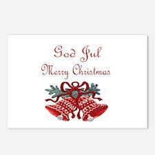 Swedish Christmas Postcards (Package of 8)