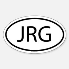 JRG Oval Decal