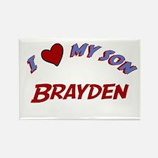 I Love My Son Brayden Rectangle Magnet