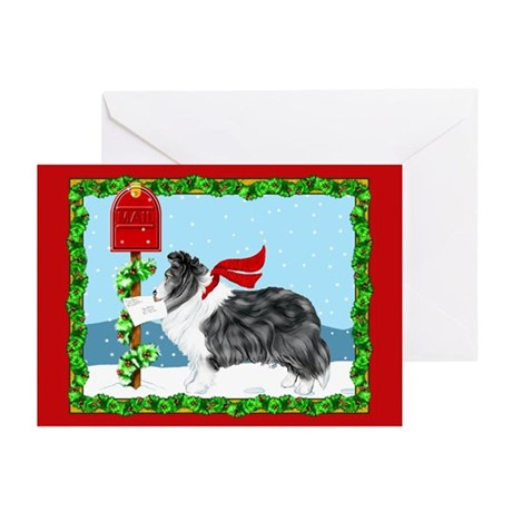 Bi Black Sheltie Mail Greeting Cards (Pk of 20)