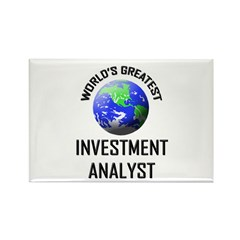 World's Greatest INVESTMENT ANALYST Rectangle Magn
