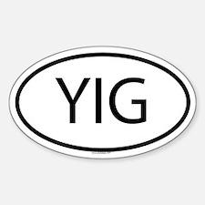 YIG Oval Decal