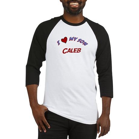 I Love My Son Caleb Baseball Jersey