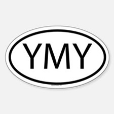 YMY Oval Decal