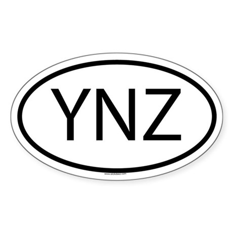 YNZ Oval Sticker