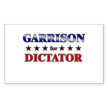 GARRISON for dictator Rectangle Sticker