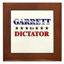 GARRETT for dictator Framed Tile