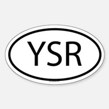 YSR Oval Bumper Stickers