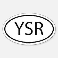 YSR Oval Decal