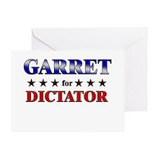 GARRET for dictator Greeting Card