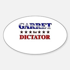 GARRET for dictator Oval Decal