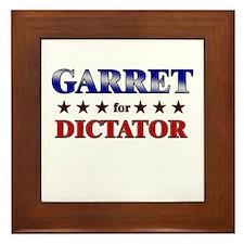 GARRET for dictator Framed Tile