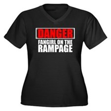 Fangirl on the Rampage Women's Plus Size V-Neck Da