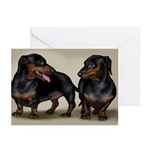 Dachshund Dogs Greeting Cards (Pk of 10)