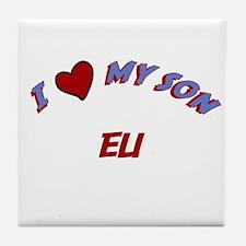 I Love My Son Eli Tile Coaster