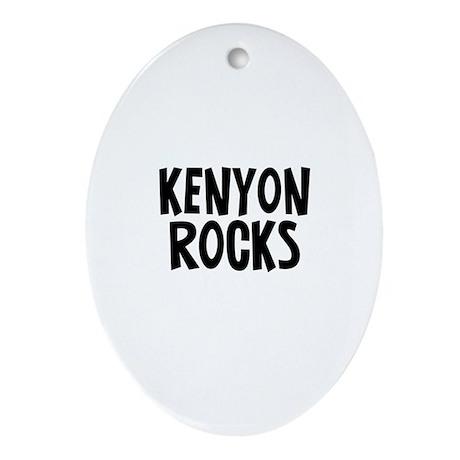 Kenyon Rocks Oval Ornament