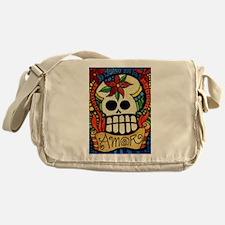 Amor Day of the Dead Skull Messenger Bag