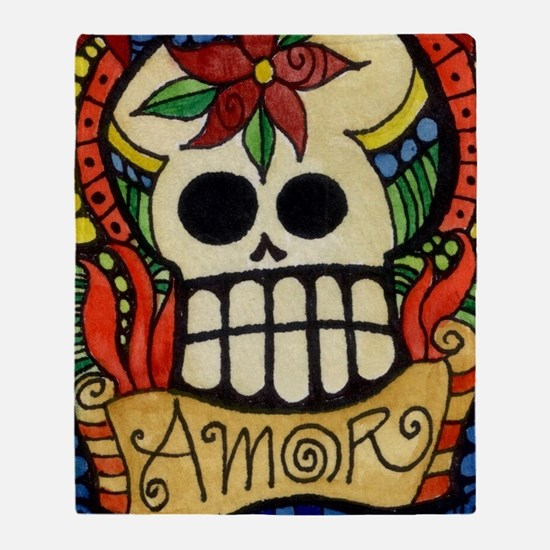 Cute Day of the dead Throw Blanket