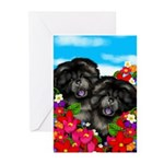 Chow Chw Dogs Greeting Cards (Pk of 10)