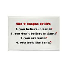 Santa Stages Rectangle Magnet