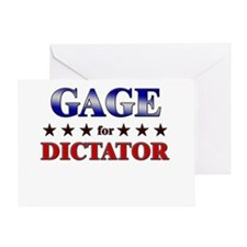 GAGE for dictator Greeting Card