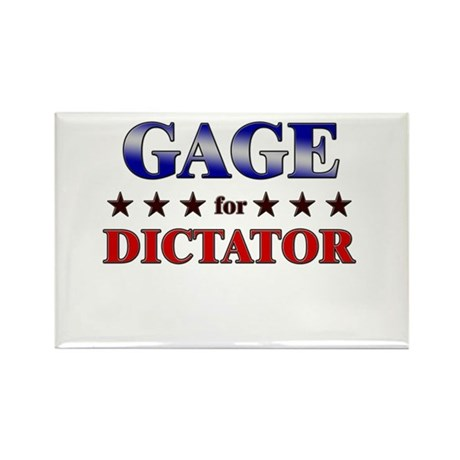 GAGE for dictator Rectangle Magnet (10 pack)