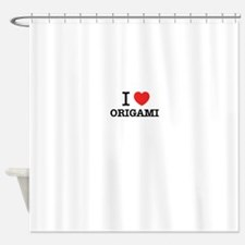 I Love ORIGAMI Shower Curtain