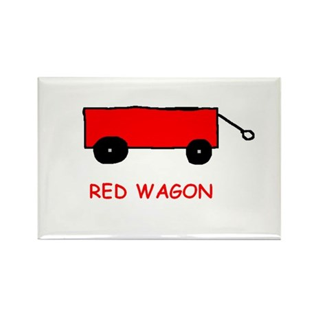 Red Wagon Rectangle Magnet